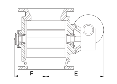 Dust Collector Valve Technical Drawing