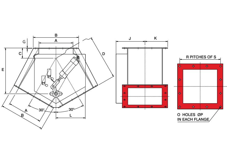 Square Pneumatic GDV Diagram