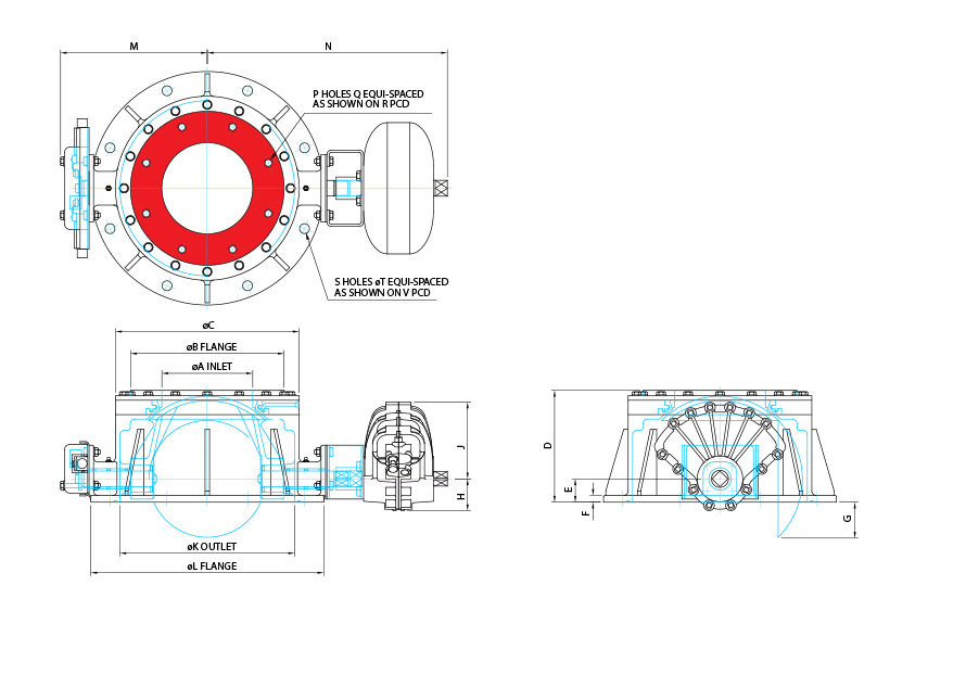 Roundhead Valve Technical Drawing